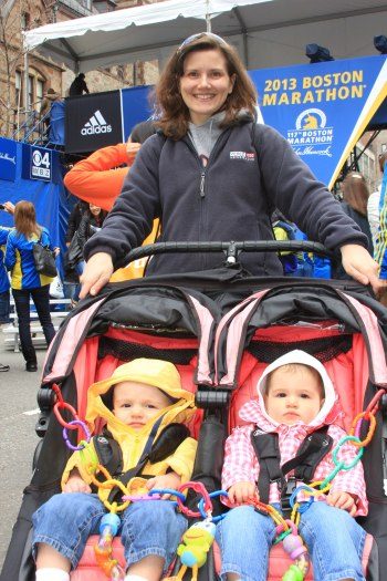 It was Jackson's and Campbell's first trip to the finish line of the Boston Marathon.